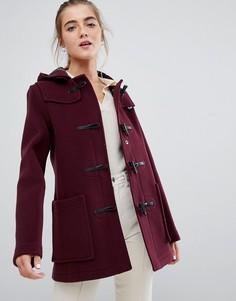 Облегающий дафлкот с добавлением шерсти средней длины Gloverall - Красный