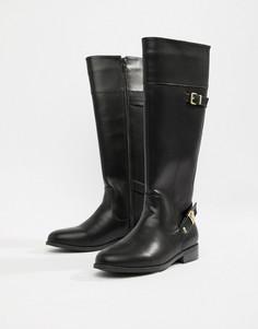 Черные сапоги на плоской подошве Head Over Heels by Dune Tonya - Черный