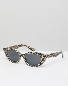 Солнцезащитные очки кошачий глаз с леопардовым принтом ASOS DESIGN - Зеленый