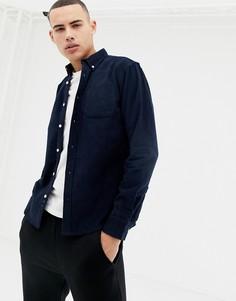 Вельветовая рубашка D-Struct Fine Needle - Темно-синий
