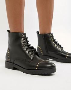 Кожаные походные ботинки на плоской подошве Carvela - Черный