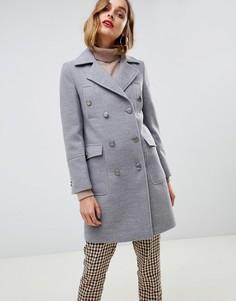 Пальто в стиле милитари Gianni Feraud - Серый