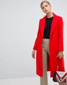 Красное пальто Boohoo - Красный