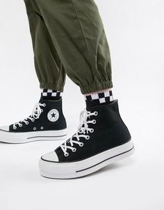 Черные высокие кеды на платформе Converse Chuck Taylor All Star - Черный