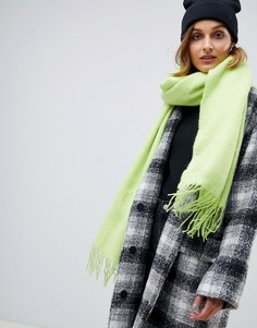 Длинный мягкий шарф с кисточками ASOS DESIGN - Желтый