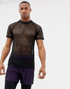 Сетчатая спортивная футболка ASOS 4505 - Черный