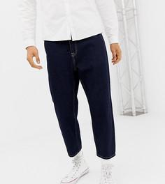 Темные укороченные джинсы прямого кроя Noak - Синий