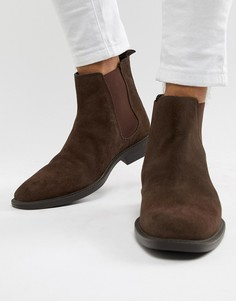 Коричневые замшевые ботинки челси Dune - Коричневый