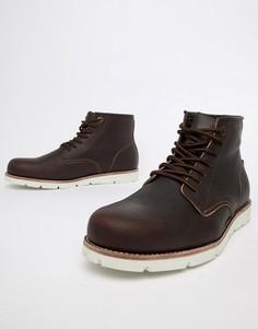 Темно-коричневые высокие кожаные ботинки Levis Jax - Коричневый Levis®