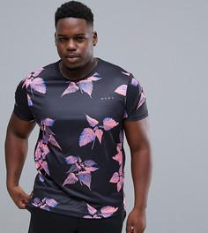 Спортивная футболка из быстросохнущей ткани с цветочным принтом ASOS 4505 Plus - Мульти