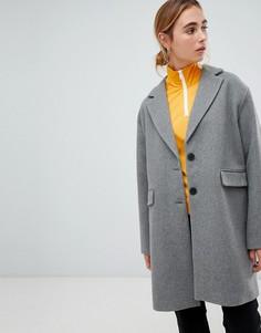 Полупальто Pull&Bear - Серый