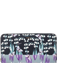 Кожаный кошелек с цветочным принтом Babylon Furla