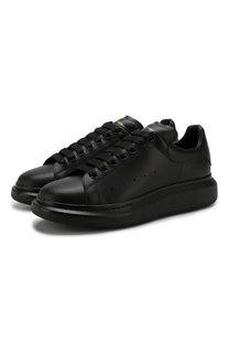 Кожаные кеды на шнуровке Alexander McQueen