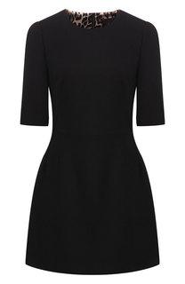 Приталенное мини-платье из шерсти Dolce & Gabbana