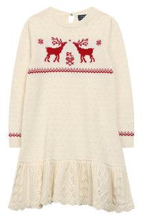 Вязаное платье с отделкой Polo Ralph Lauren