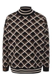 Пуловер с принтом и воротником-стойкой Fendi