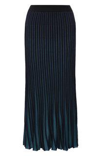 Плиссированная юбка-миди из вискозы Kenzo