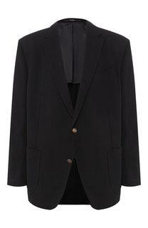 Однобортный пиджак из смеси шерсти и хлопка Windsor