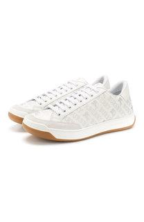 Кожаные кроссовки на шнуровке Burberry