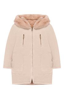 Пальто с фактурной отделкой на капюшоне Chloé