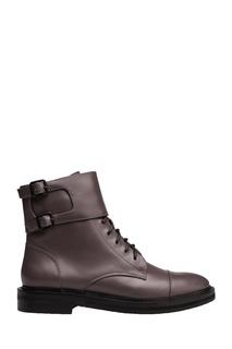 Кожаные ботинки с двойной застежкой Portal