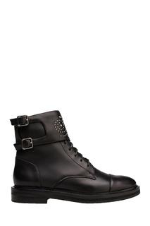 Кожаные ботинки с декором Portal