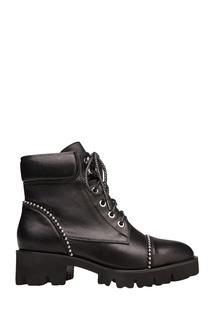 Кожаные ботинки с металлическим декором Portal