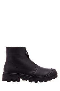 Черные кожаные ботинки на молнии Loewe