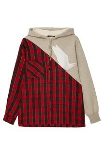 Комбинированное худи-рубашка Debra Dove 3.Paradis