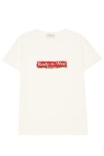 Белая футболка с принтом Laroom
