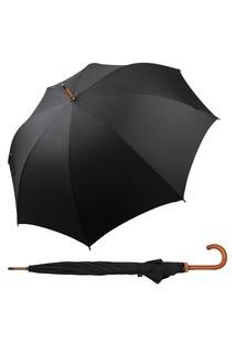 """Черный зонт-трость с деревянной ручкой """"Чёрная классика"""" Goroshek"""