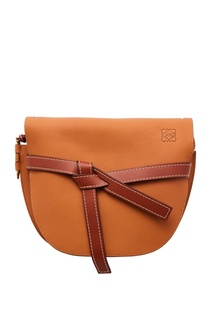 Светло-коричневая кожаная сумка Gate Loewe