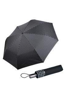 """Черный складной зонт """"Клетка гипс"""" Goroshek"""