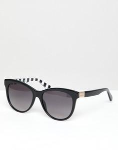 Черные круглые солнцезащитные очки LOVE Moschino - Черный