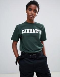 Футболка бойфренда с логотипом Carhartt WIP - Зеленый