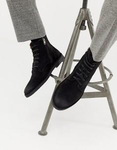 Замшевые ботинки на крепированной подошве Selected Homme - Черный