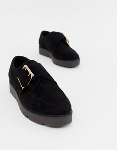 Ботинки на платформе London Rebel - Черный