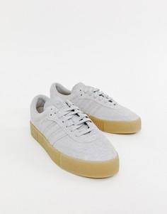 Серые кроссовки с резиновой подошвой adidas Originals Samba Rose - Серый