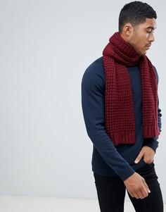 Бордовый вязаный шарф ASOS DESIGN - Красный