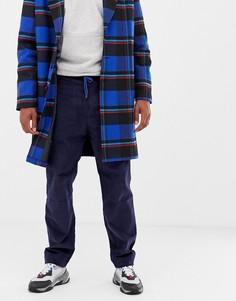 Темно-синие вельветовые брюки прямого кроя COLLUSION - Темно-синий