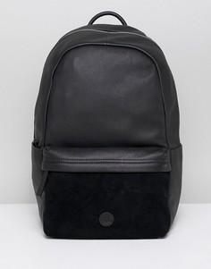 Черный кожаный рюкзак Timberland - Черный