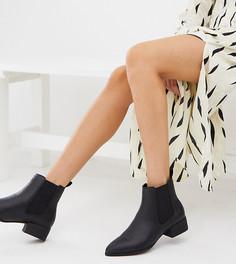 Черные ботинки челси с принтом под змеиную кожу Monki - Черный