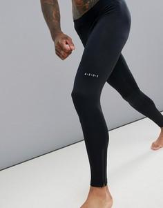 Черные леггинсы из быстросохнущей ткани с молниями ASOS 4505 running - Черный