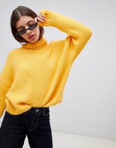 Желтый джемпер с отворачивающимся воротником Weekday - Желтый