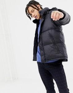 Черная дутая куртка со съемным капюшоном Penfield Equinox - Черный
