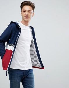 Легкая куртка колор блок с капюшоном и логотипом чайка (темно-синий/красный) Hollister - Темно-синий