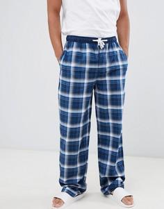 Хлопковые штаны для дома в клетку Tokyo Laundry - Синий