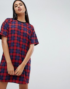 Платье-футболка в клетку Noisy May - Мульти