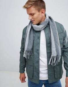Вязаный шарф в полоску Esprit - Серый