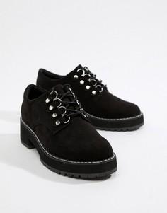 Туфли на плоской подошве ASOS DESIGN - Черный